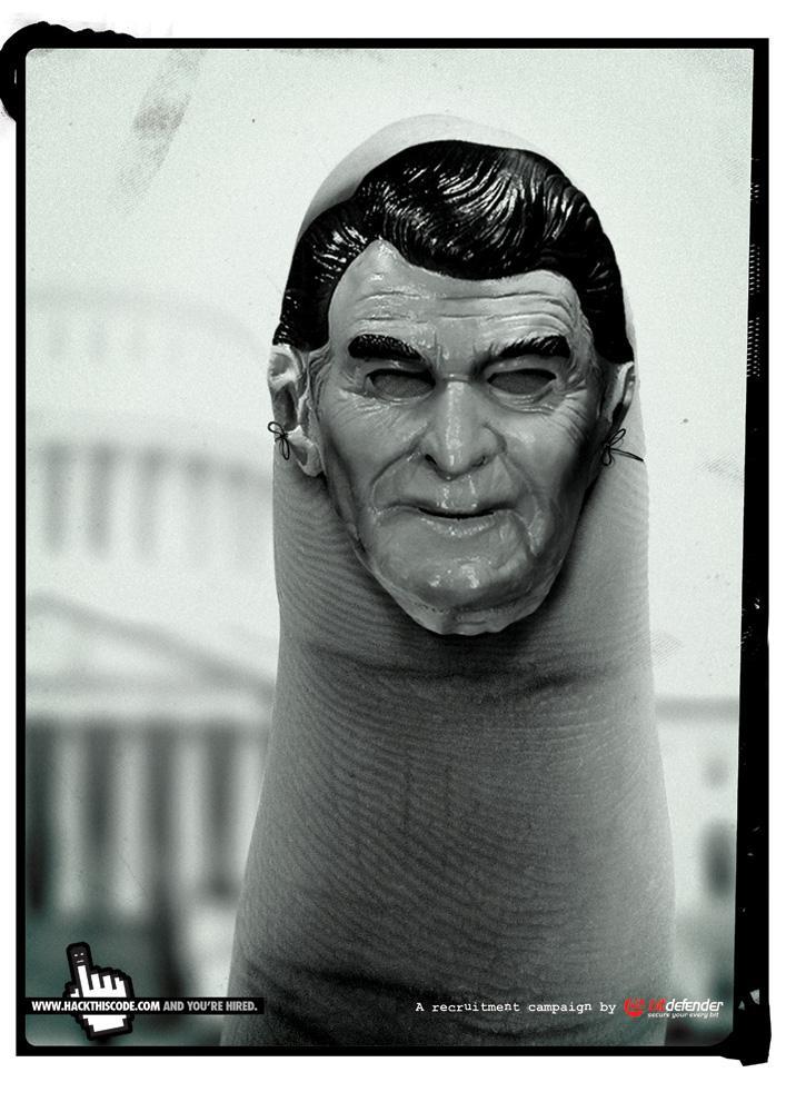 Bitdefender Print Ad -  Finger, 2