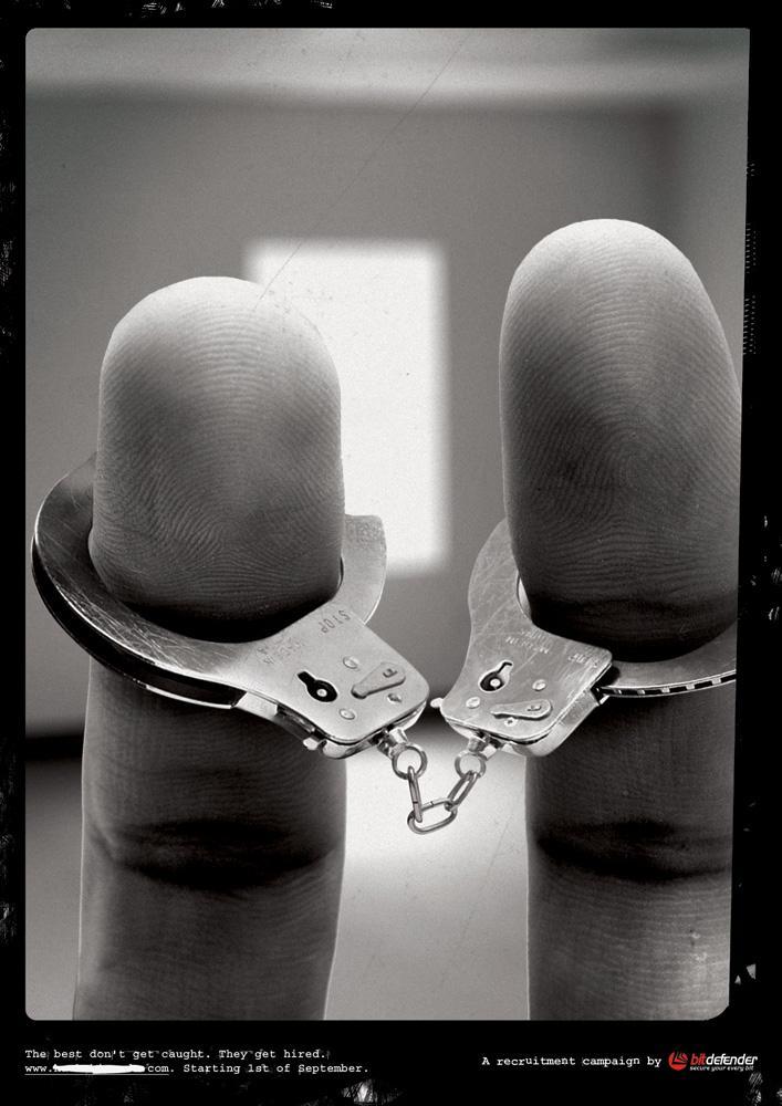 Bitdefender Print Ad -  Handcuffs