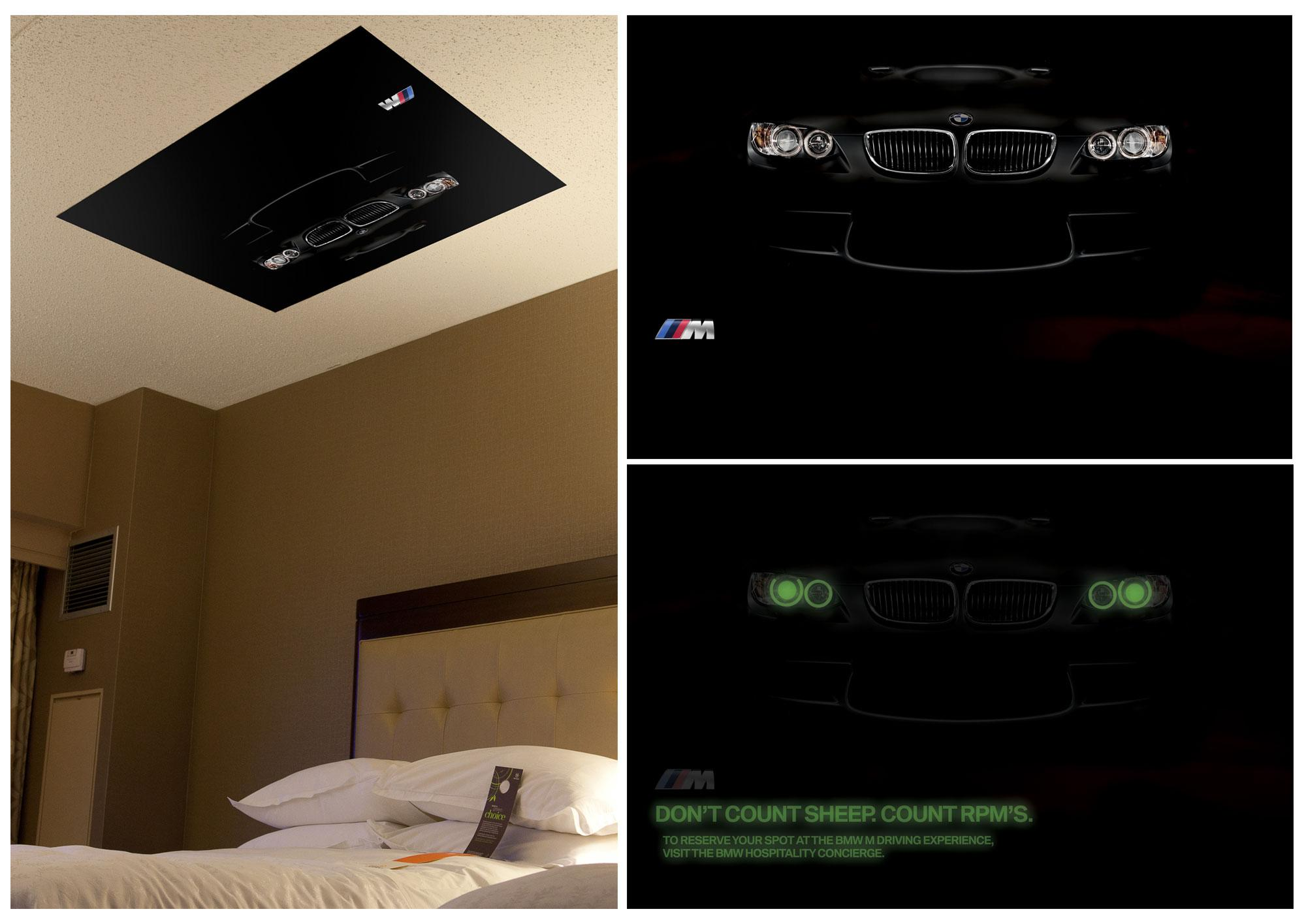 BMW Outdoor Ad -  In-room ceiling poster
