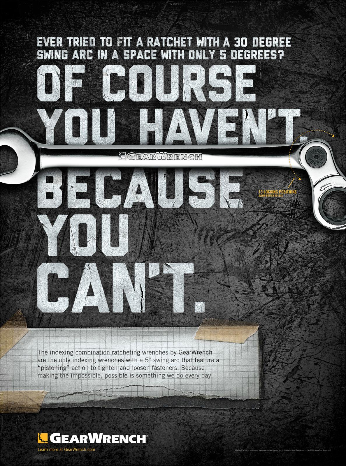 GearWrench Print Ad -  Indexing Wrench