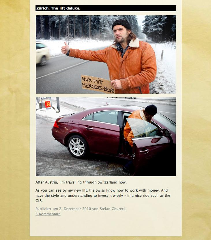 Mercedes Digital Ad -  Tramp a Benz
