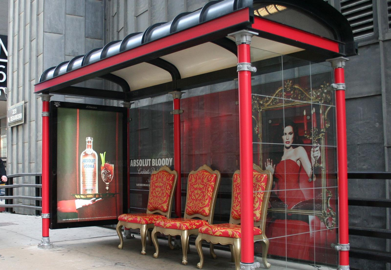 Absolut Outdoor Ad -  Bloody bus stop