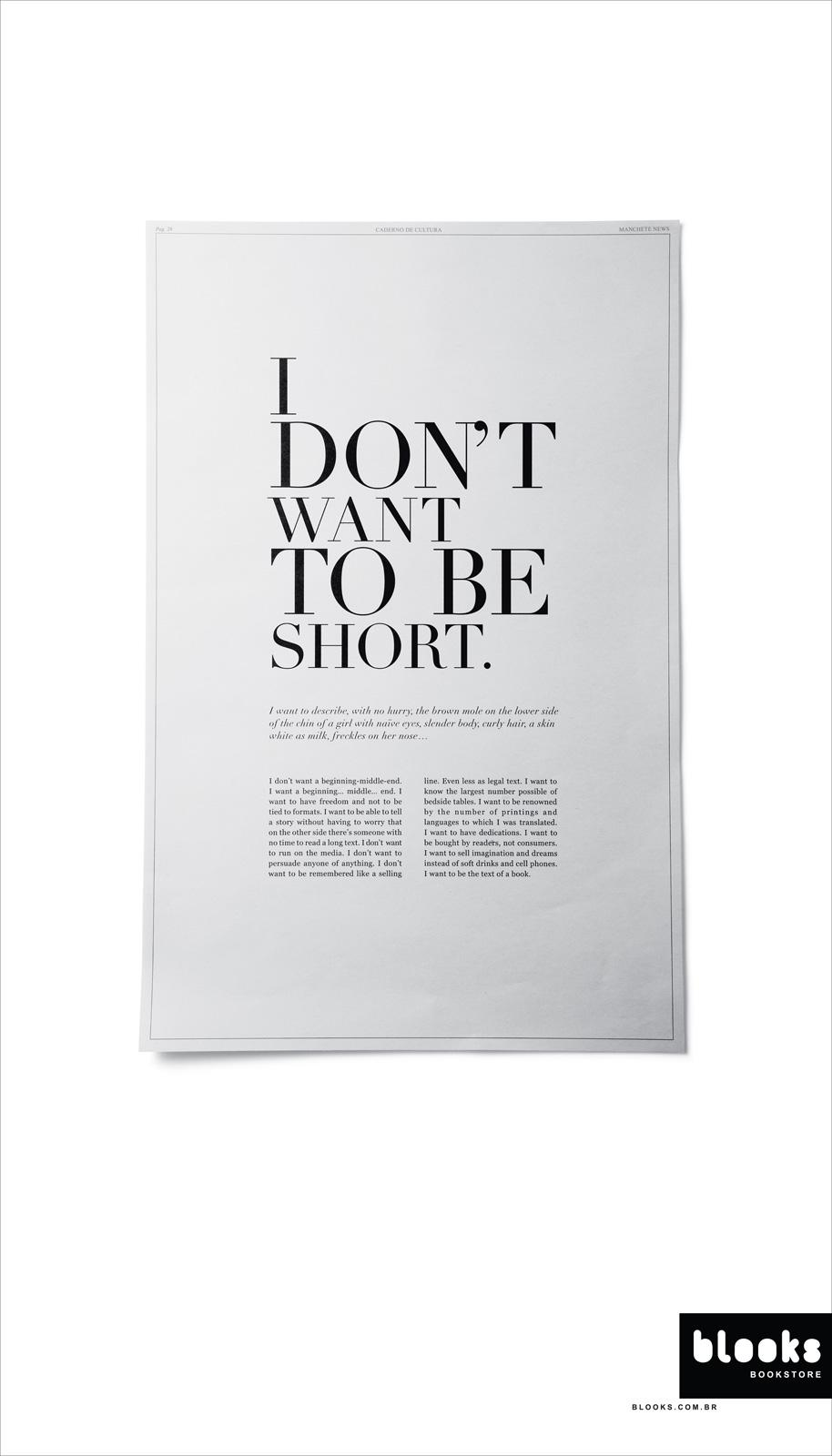 Blooks Bookstore Outdoor Ad -  I want to be the text of a book, 3