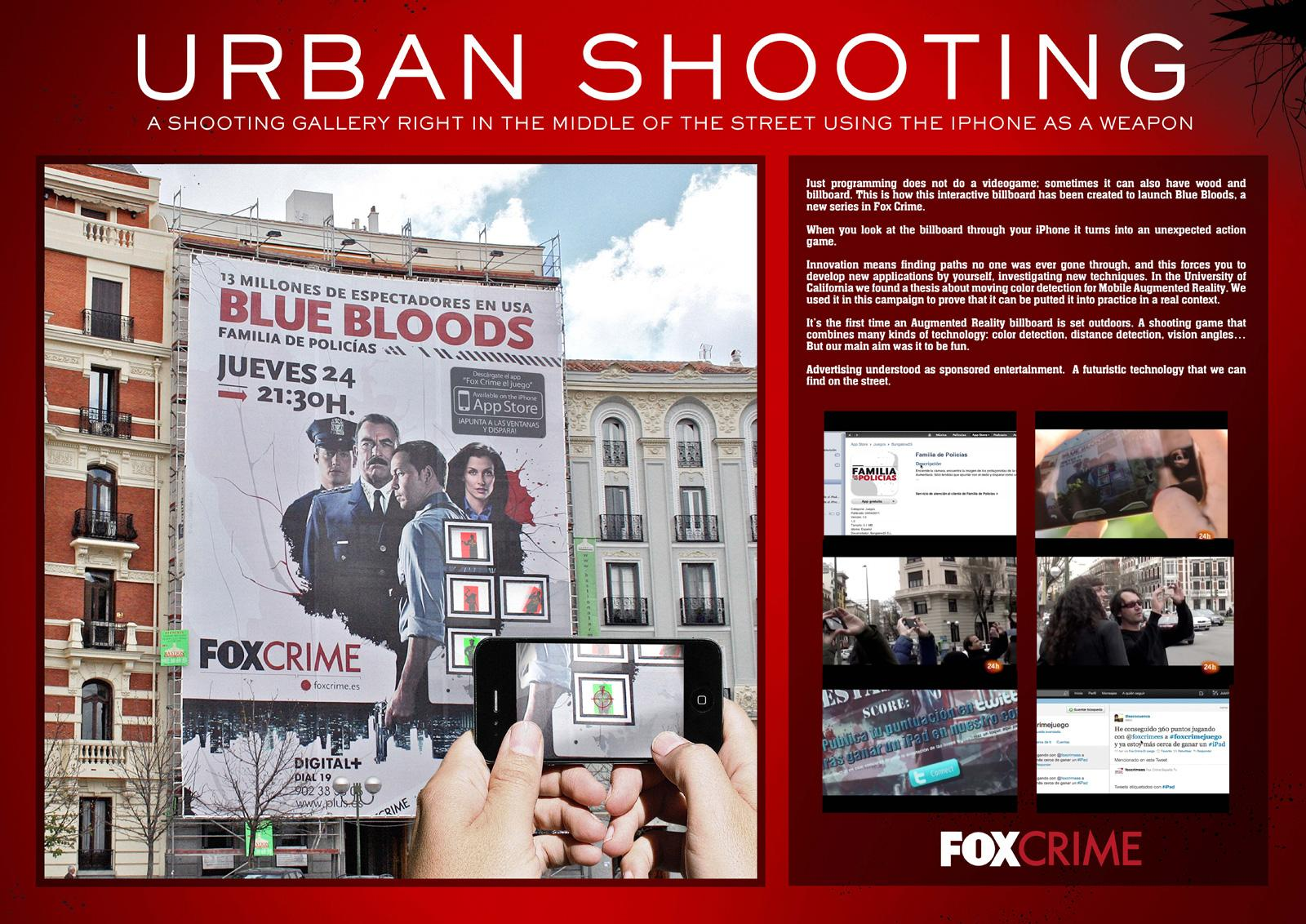 Fox Crime Outdoor Ad -  Blue bloods