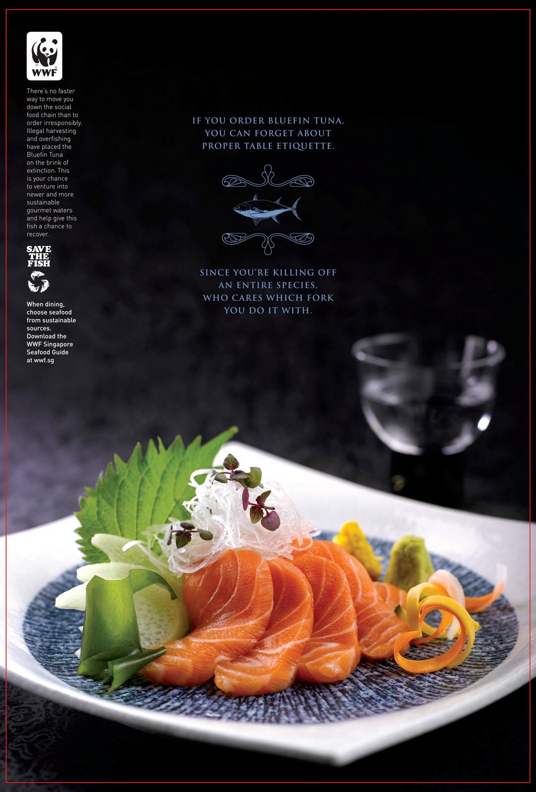 WWF Print Ad -  Enter the World of Sustainable Seafood, Bluefin tuna