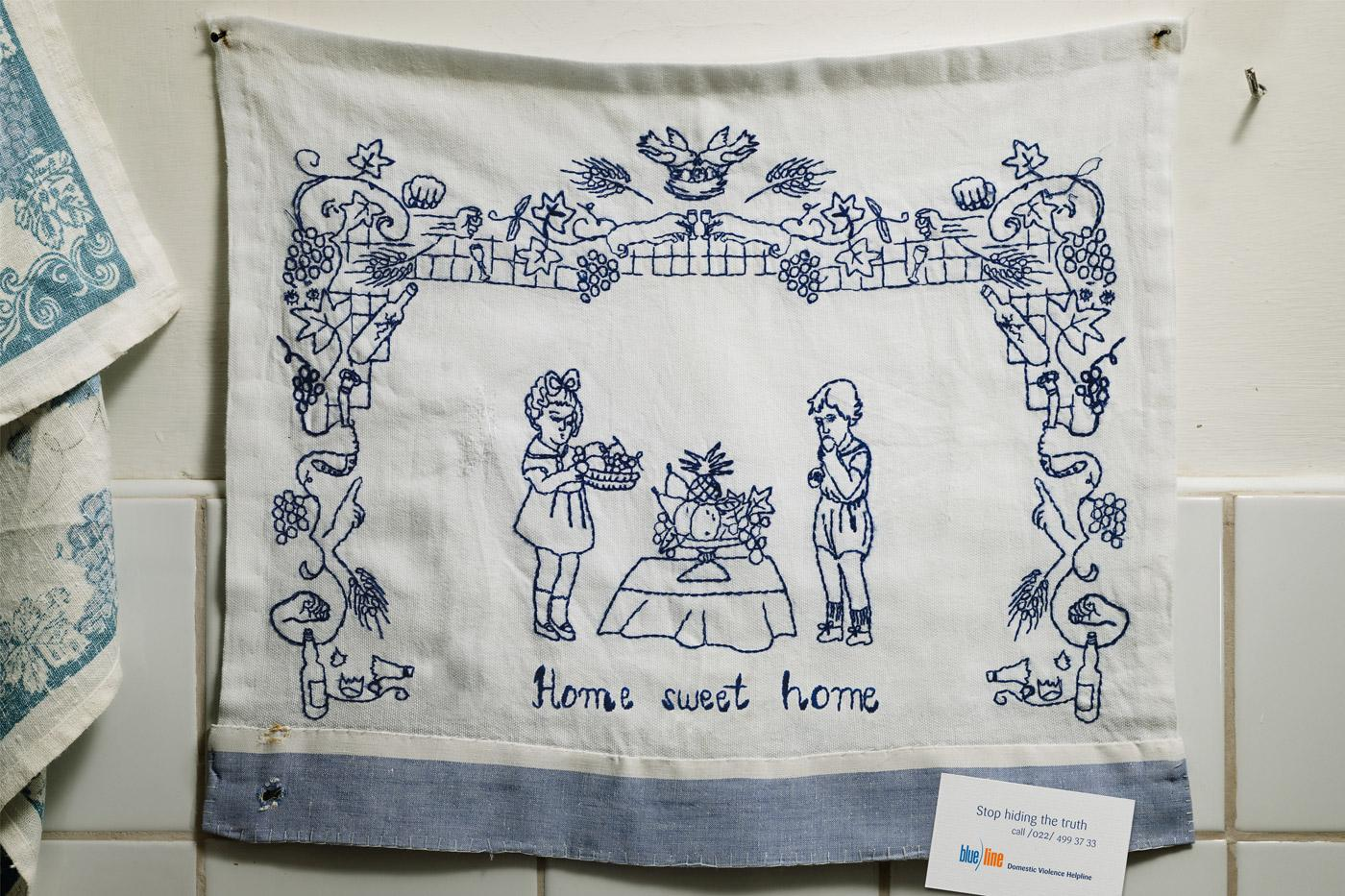Blue line Print Ad -  Home sweet home, 2