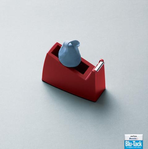 Blu Tack Print Ad -  Sticky tape