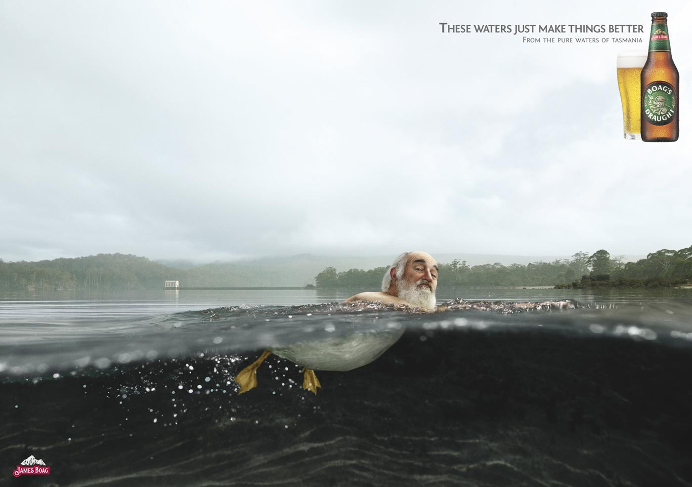 Boags Print Ad -  Duck