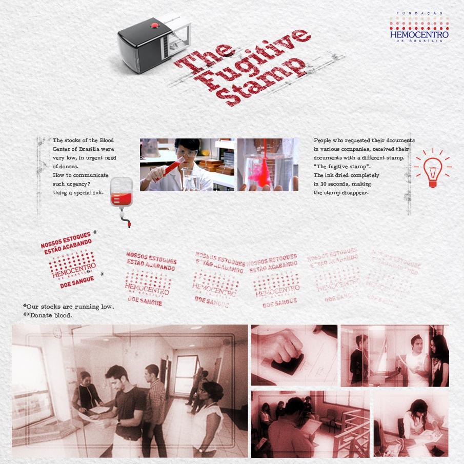 Fundação Hemocentro de Brasília Direct Ad -  The Fugitive Stamp