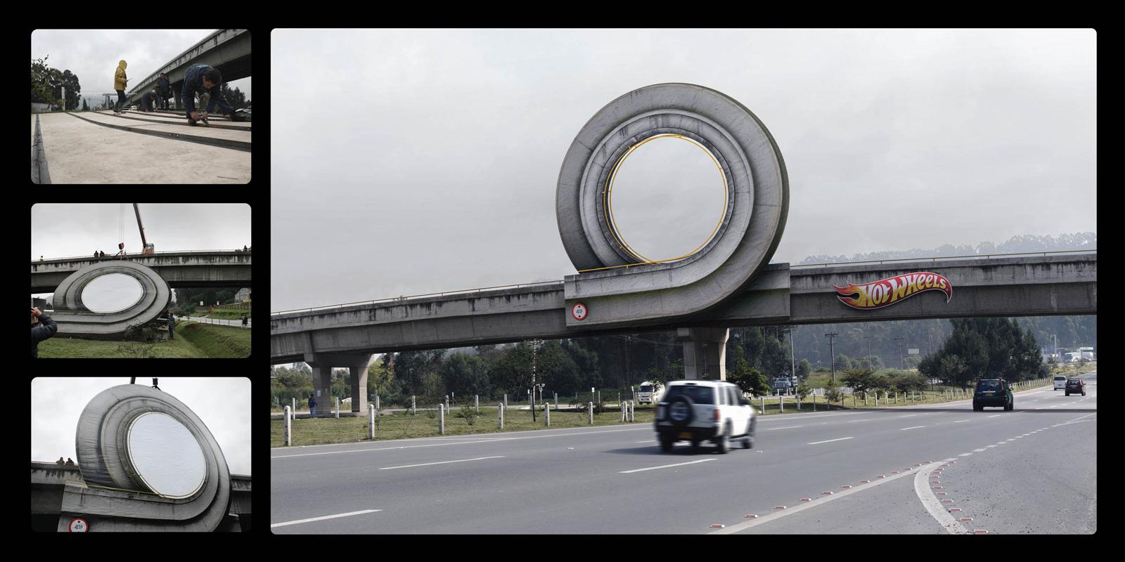 Hot Wheels Outdoor Ad -  Curl