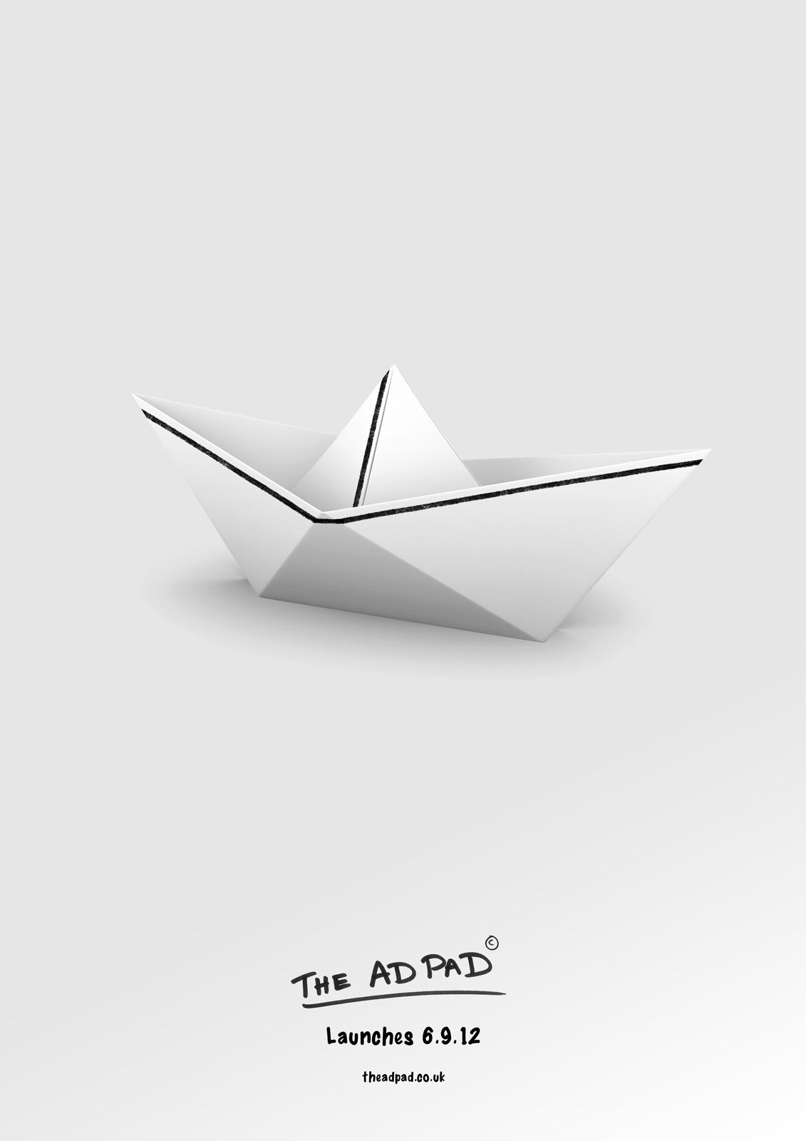 The Ad Pad Print Ad -  Boat