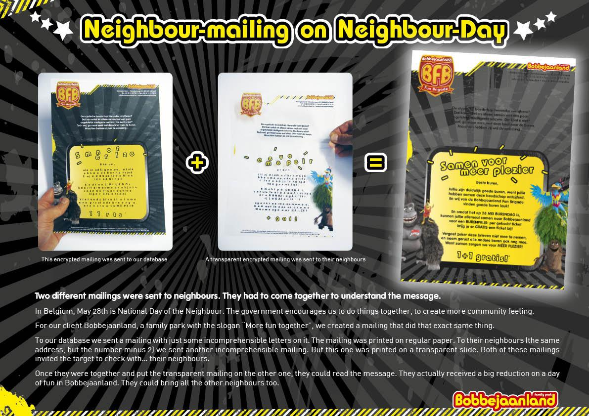 Bobbejaanland Direct Ad -  Neighbour Mailing