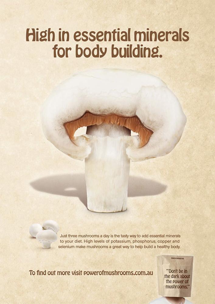 Australian Mushroom Growers Association Print Ad -  Body