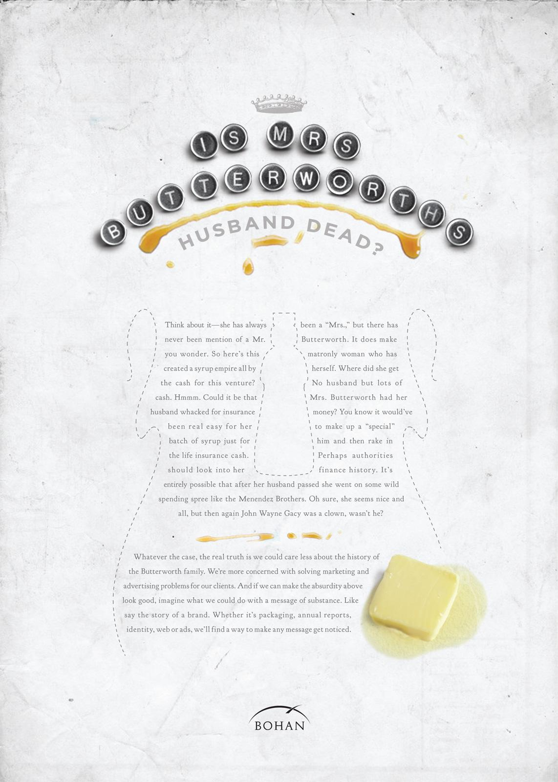 Bohan Print Ad -  Butterworth