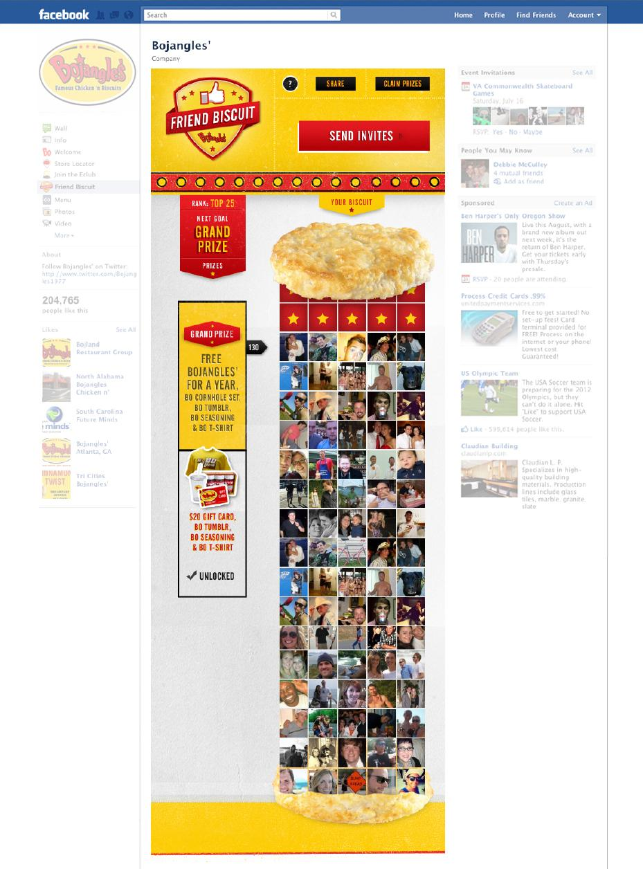 Bojangles' Digital Ad -  Friend Biscuit