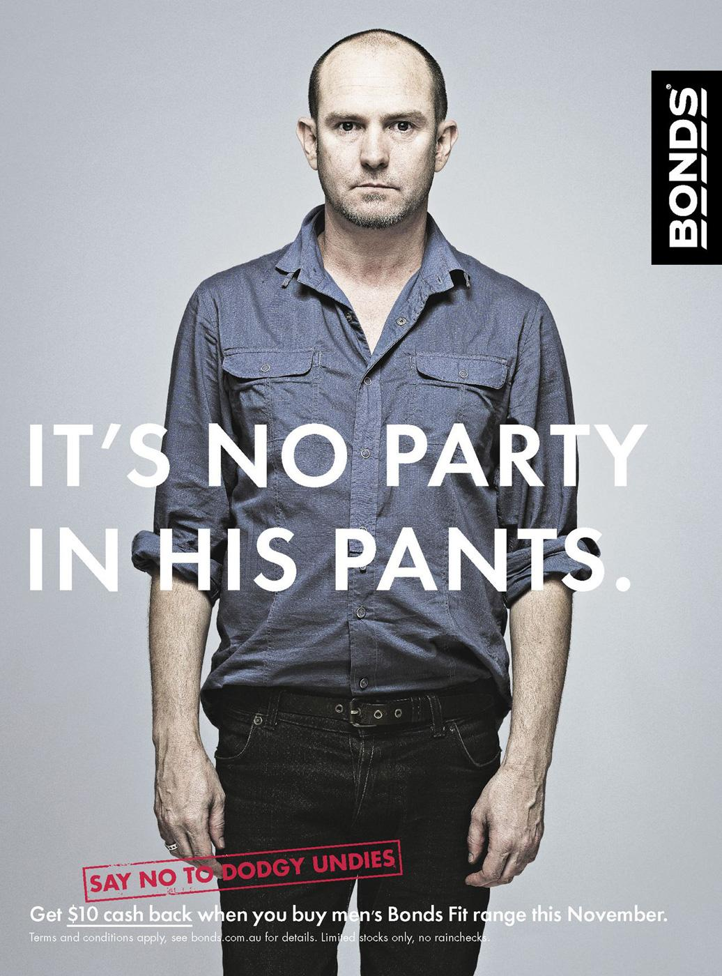 Bonds Print Ad -  Party