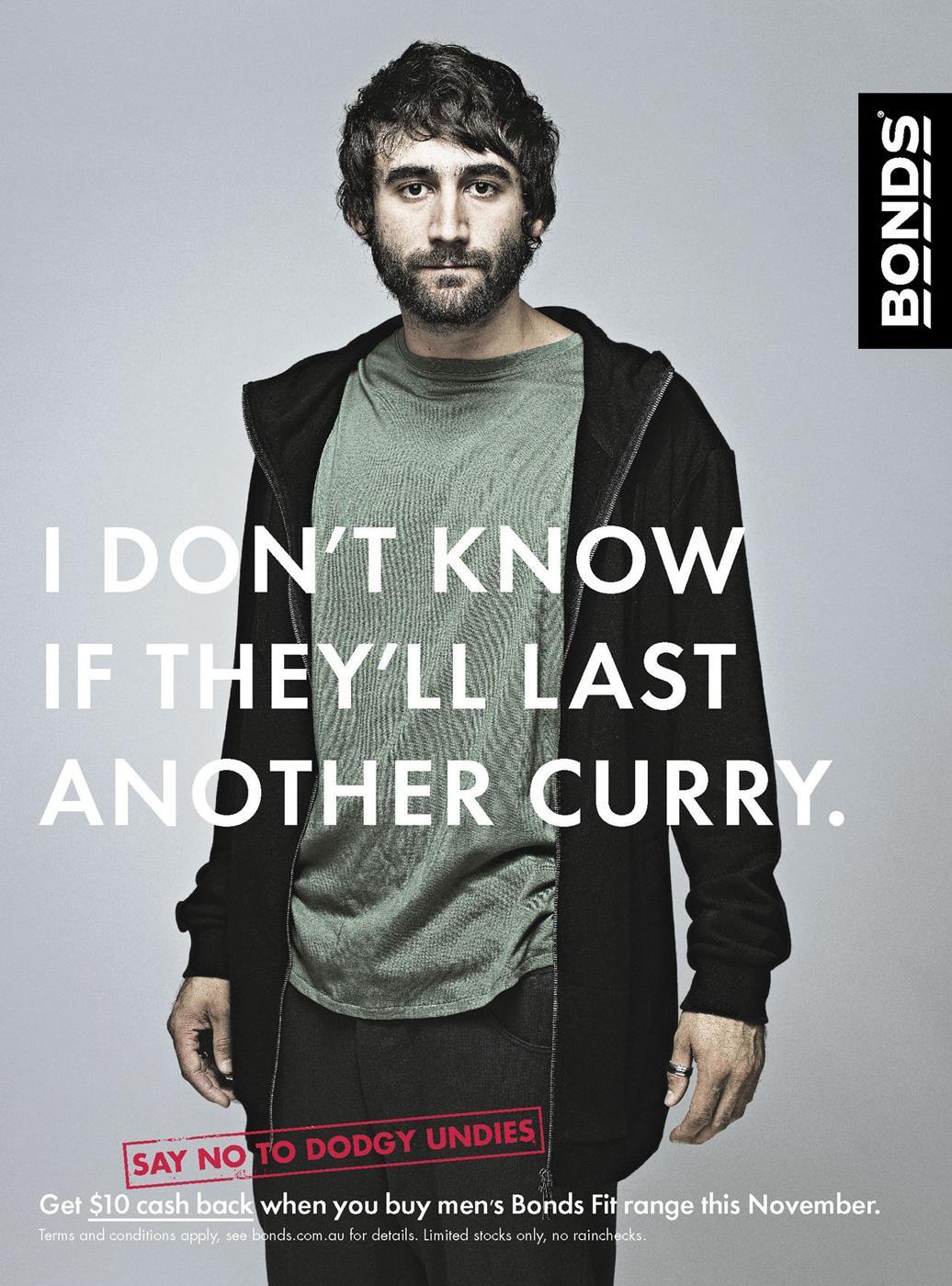 Bonds Print Ad -  Curry