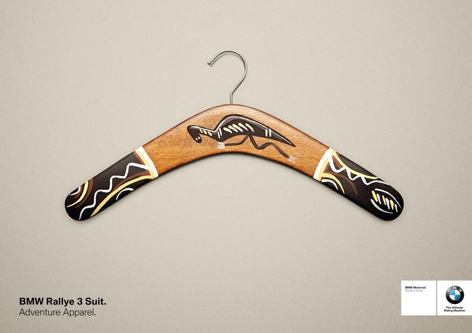 BMW Print Ad -  Boomerang hanger