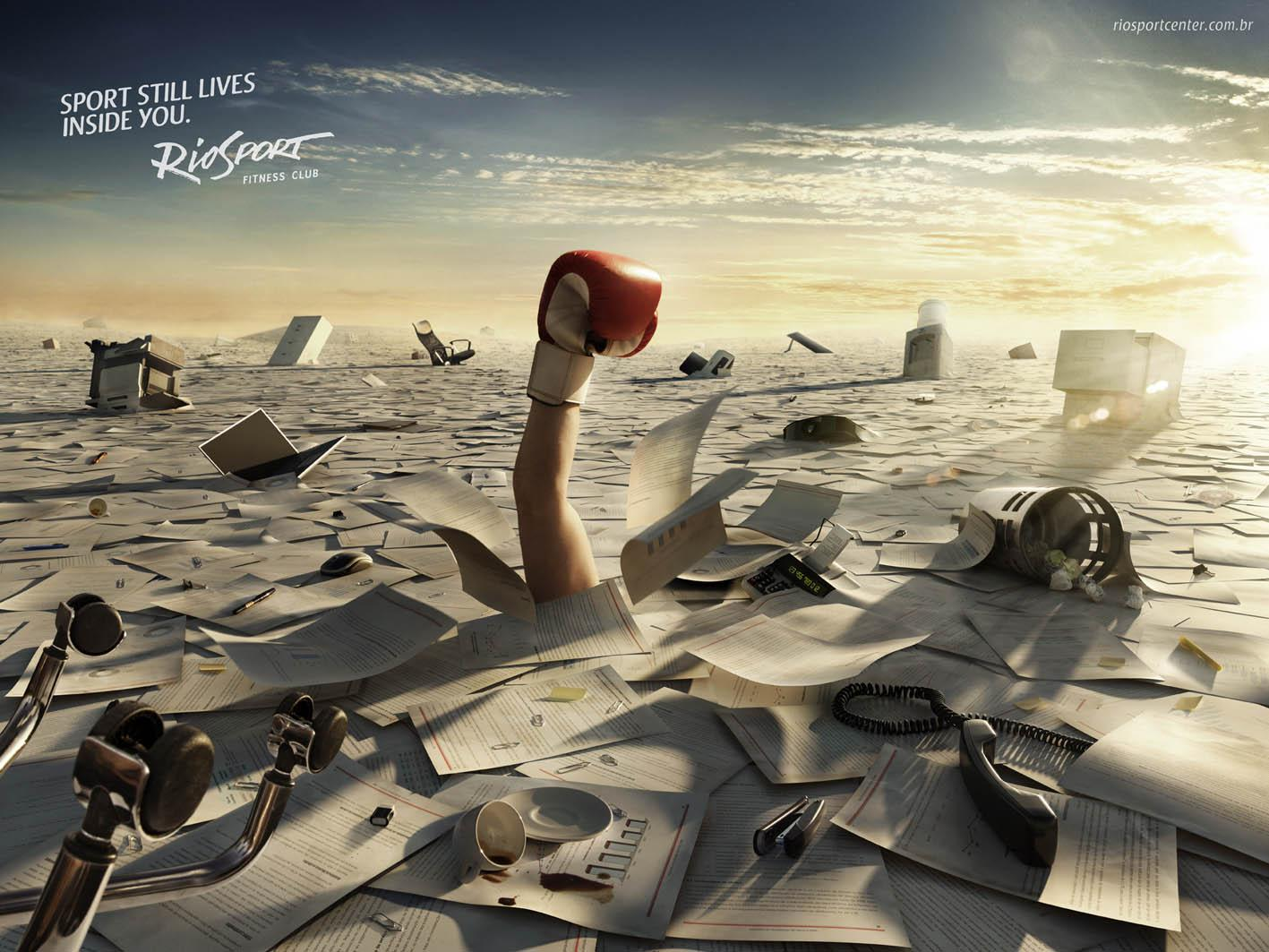 RioSport Print Ad -  Boxing