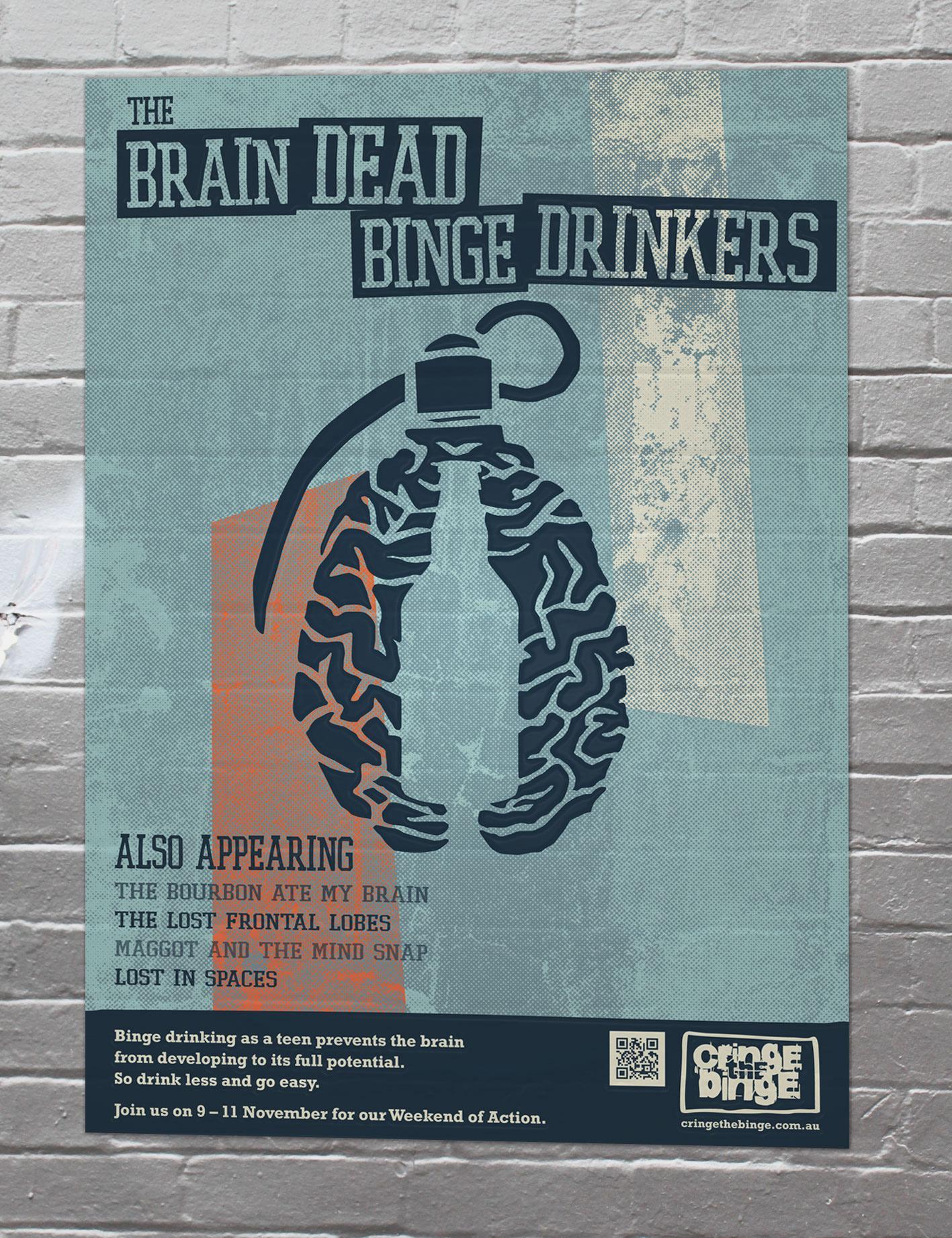 Cringe the Binge Outdoor Ad -  Brain Dead Bingers