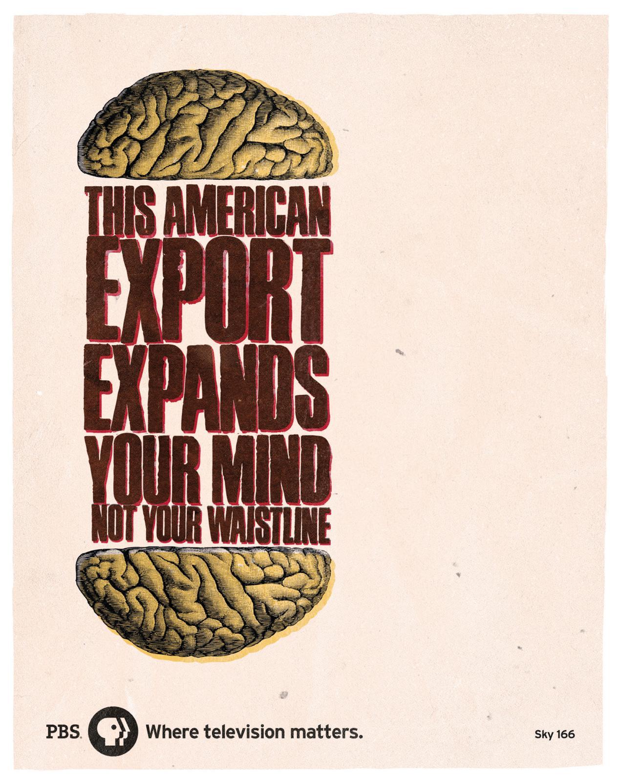 PBS Print Ad -  Brain