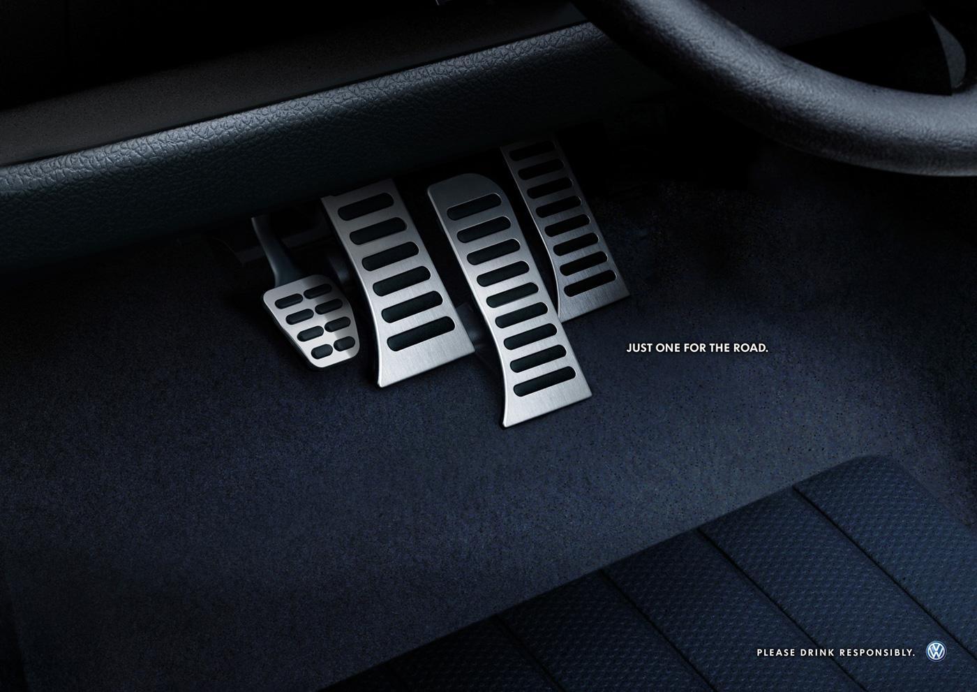 Volkswagen Print Ad -  Brake pedals