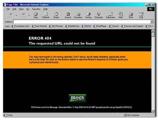 Brand's Digital Ad -  Error 2/3