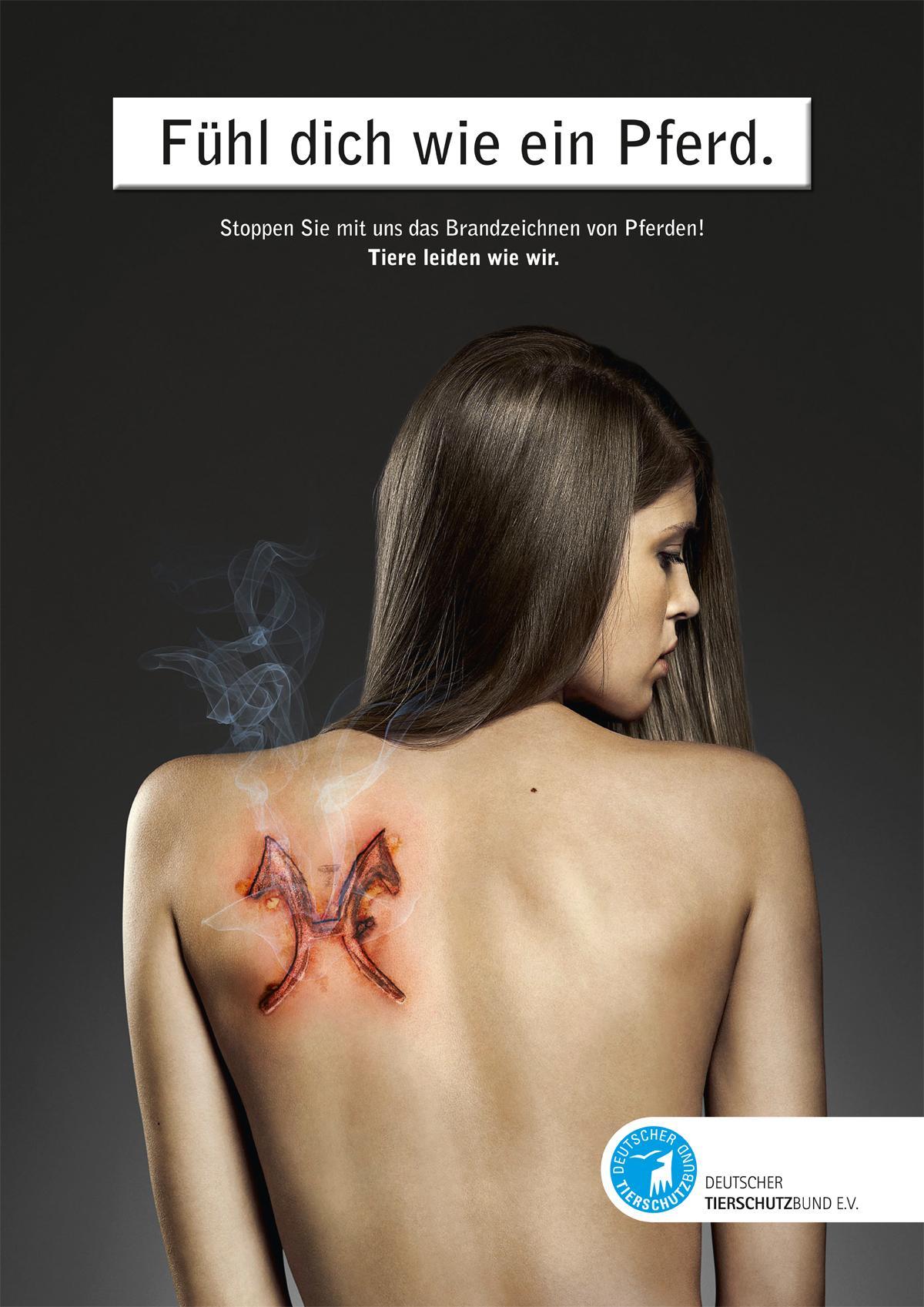 Deutscher Tierschutz Print Ad -  Animal Rights, Horse