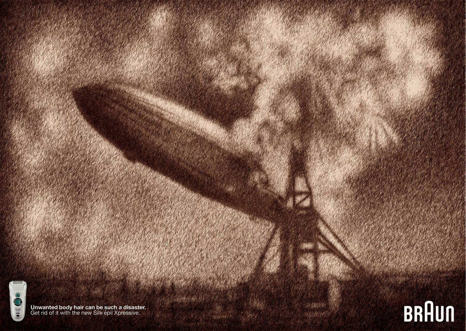 Braun Print Ad -  Hindenburg Crash