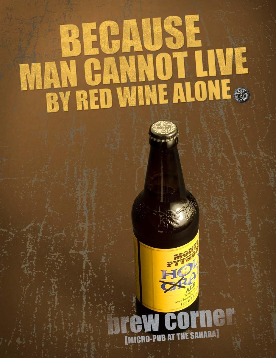 Brew Corner Print Ad -  Holy Grail