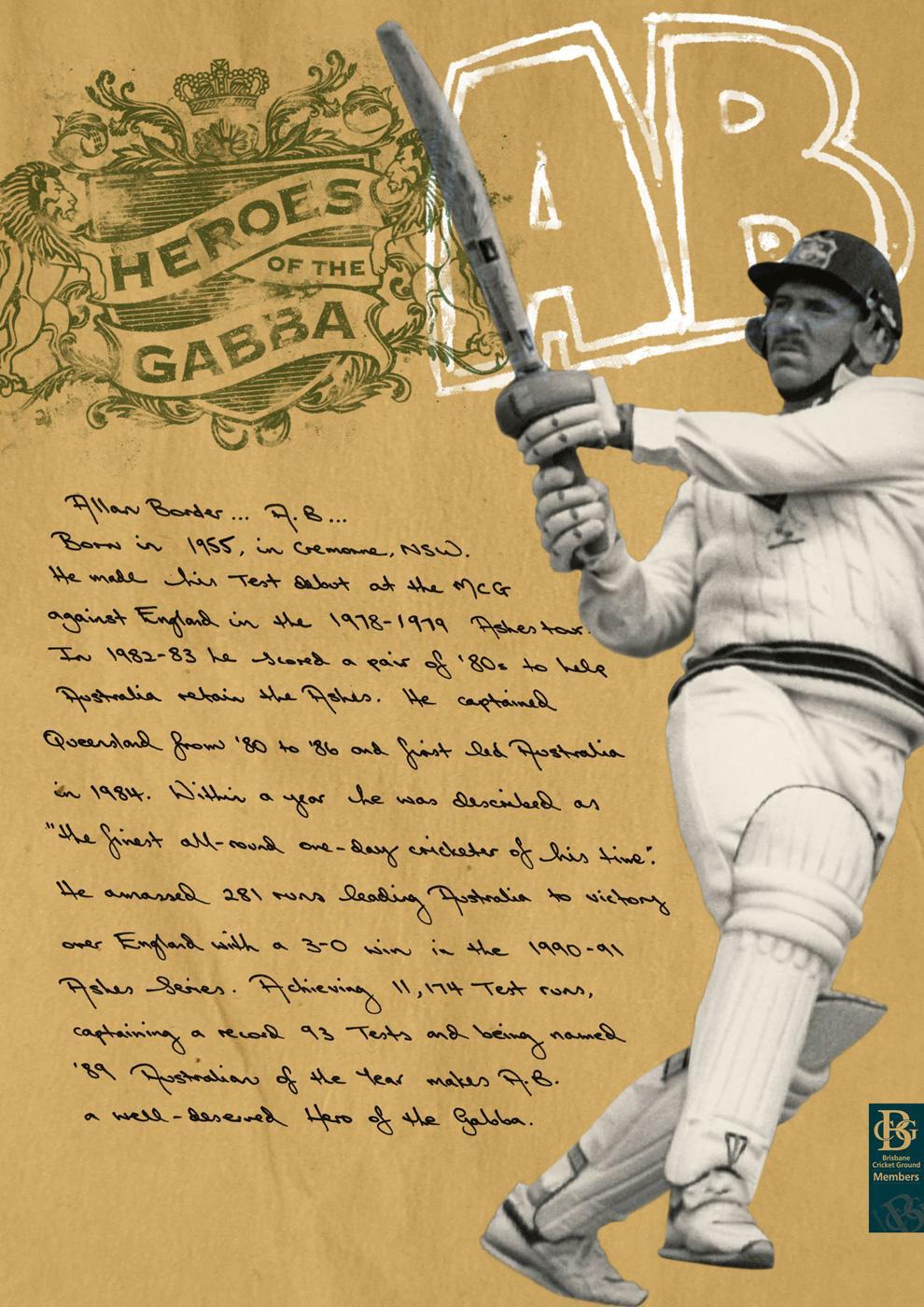 Brisbane Cricket Ground Print Ad -  Heroes of the Gabba, 1