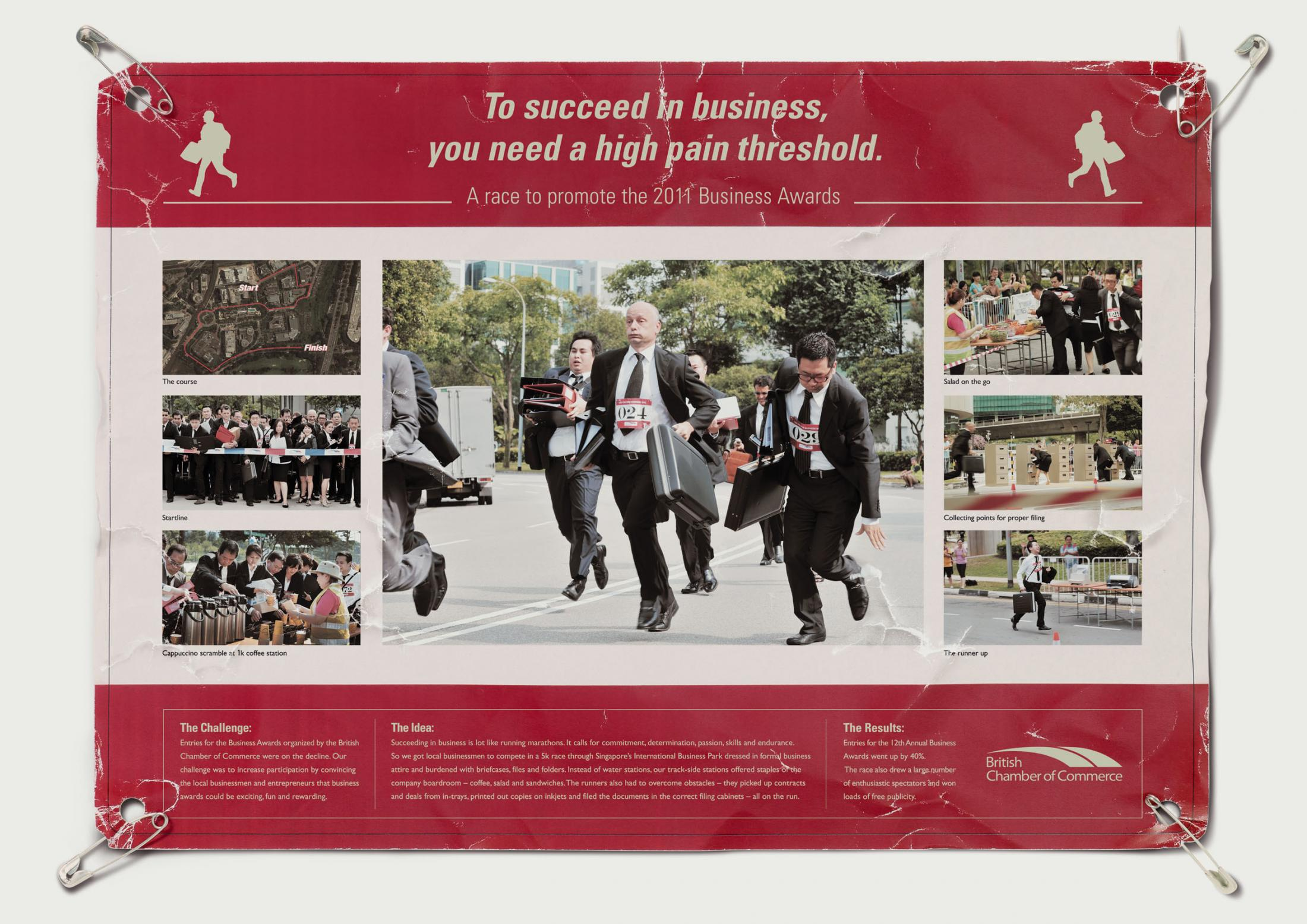 British Chamber of Commerce Ambient Ad -  Business Run