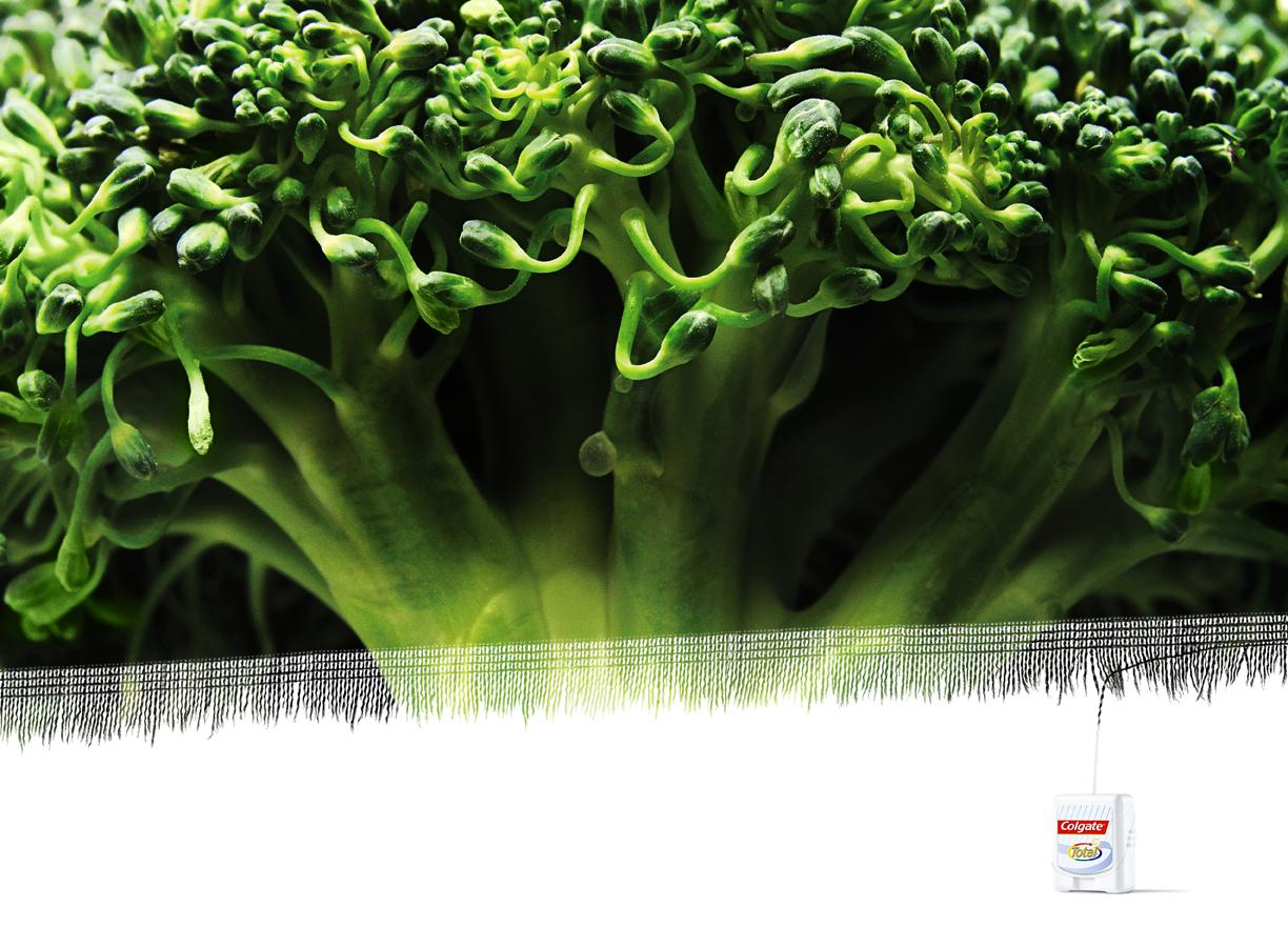 Colgate Print Ad -  Broccoli thread