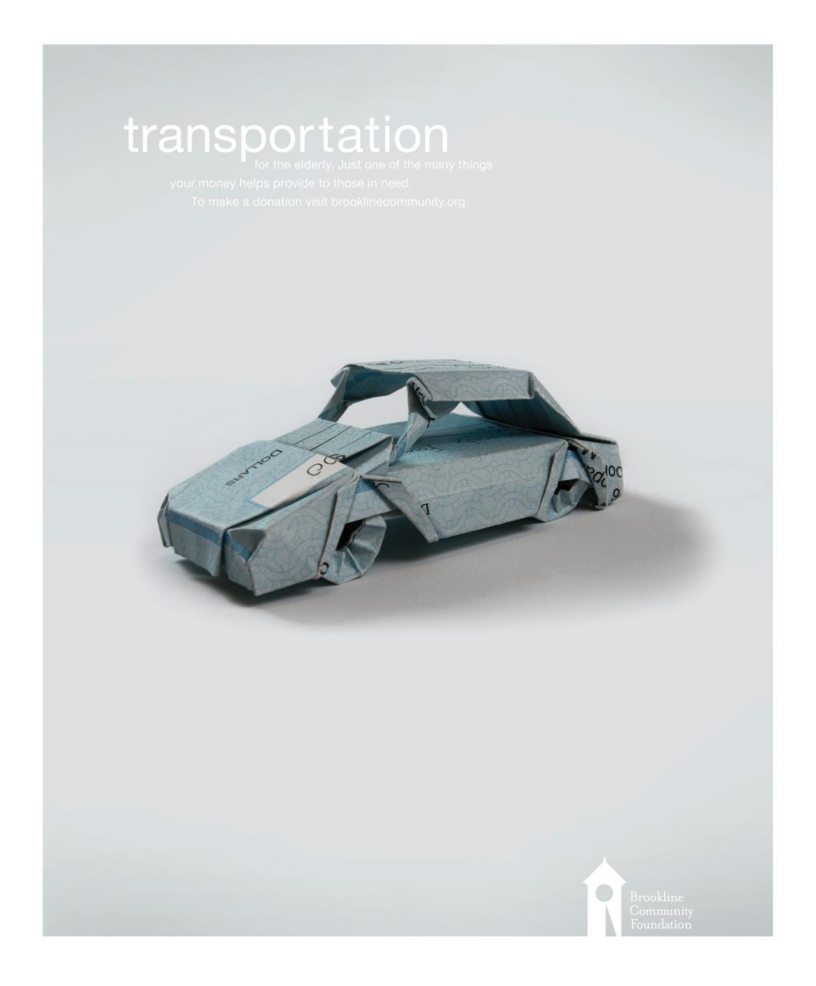 Brookline Community Foundation Print Ad -  Transportation