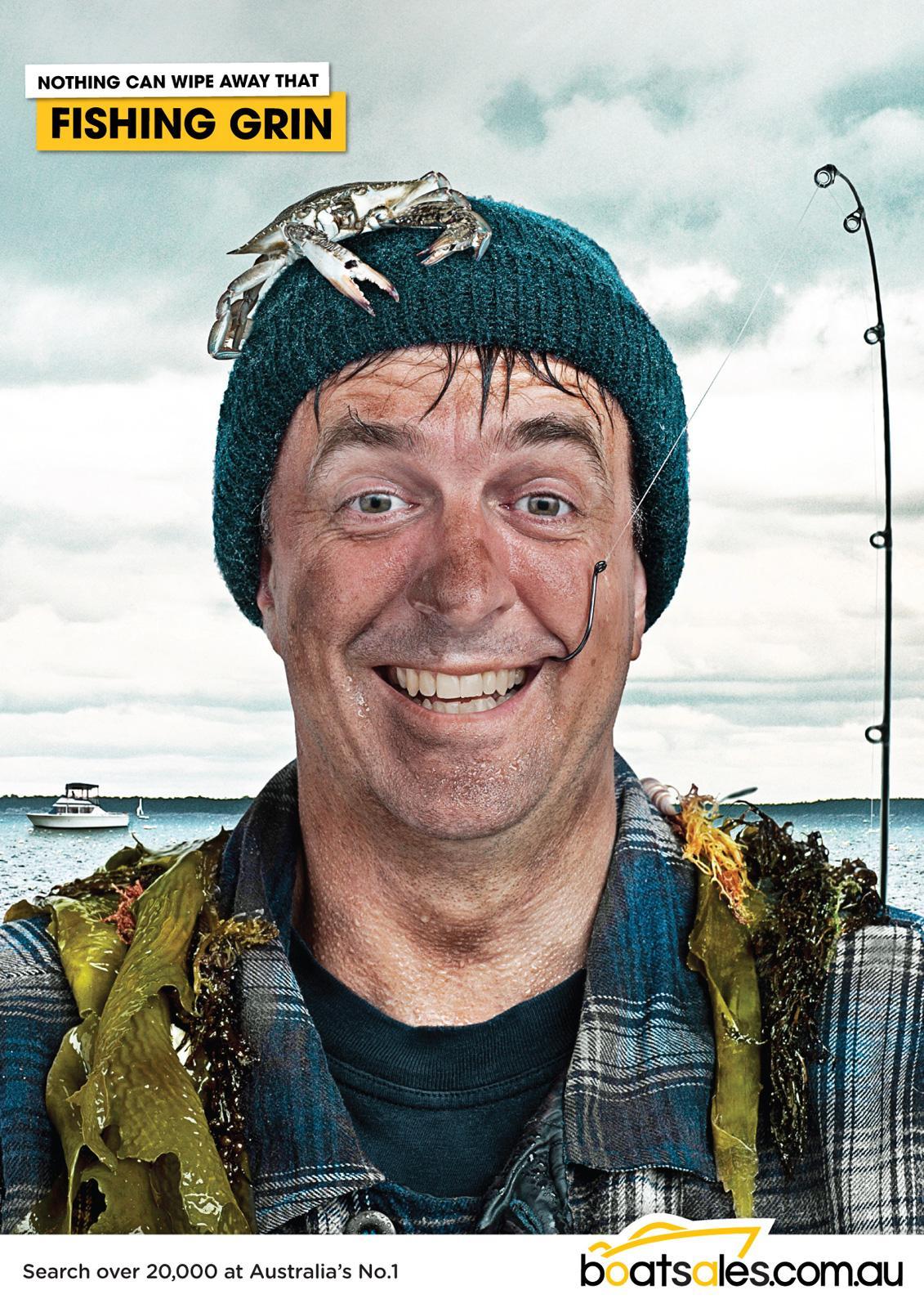 Boatsales.com.au Print Ad -  Fishing Grin