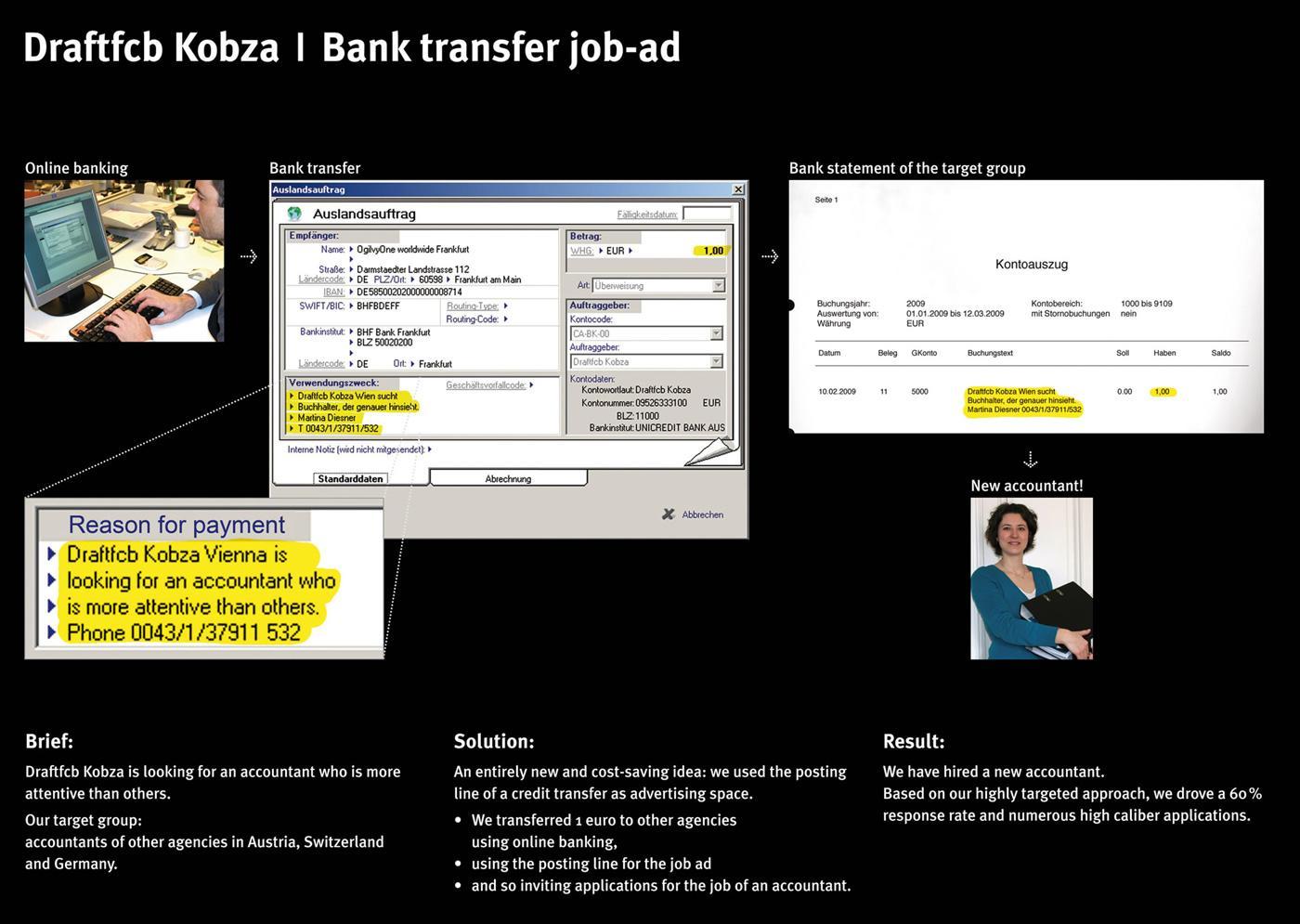 Draftfcb Ambient Ad -  Job Posting, Book-keeper