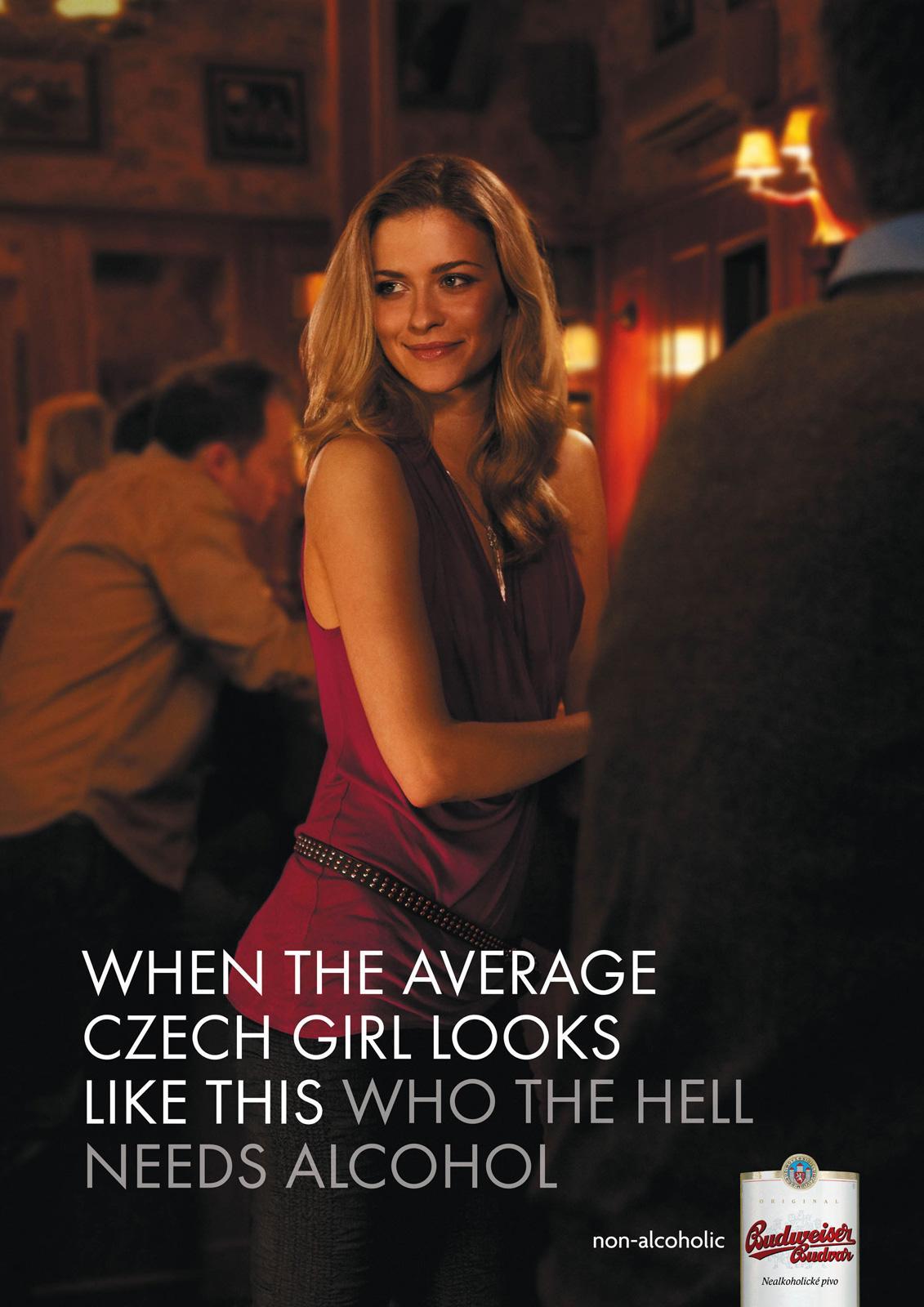 Budweiser Print Ad -  Czech Girl, 2