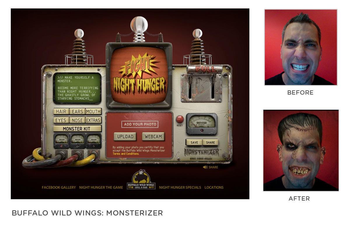 Buffalo Wild Wings Digital Ad -  Monsterizer