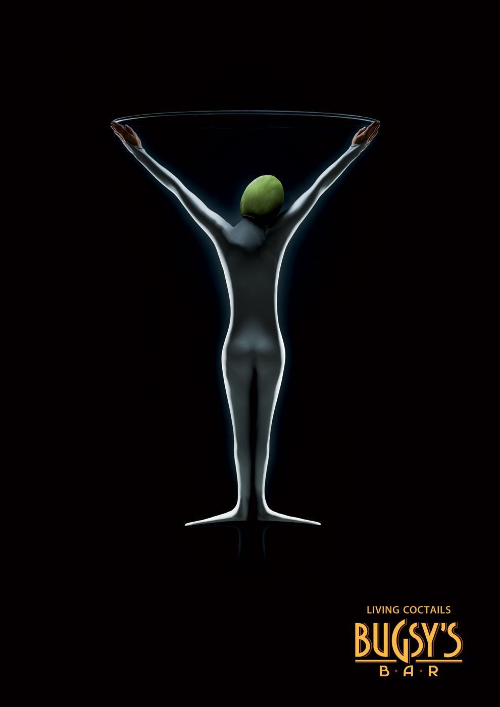 Bugsy's Bar Print Ad -  Glass, 2