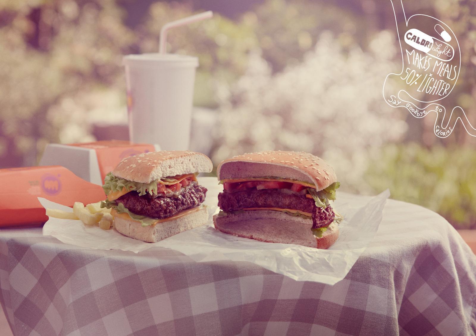 Calorilight Print Ad -  Burger