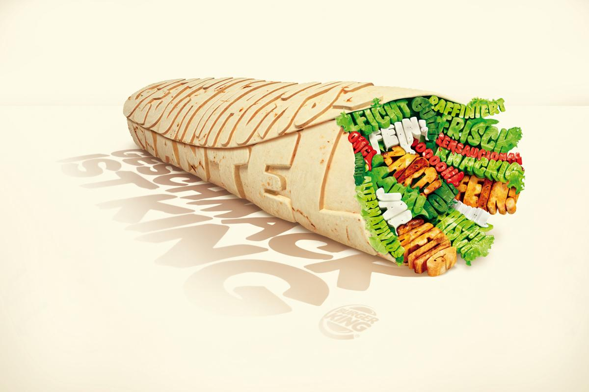 Burger King Print Ad -  Wrap