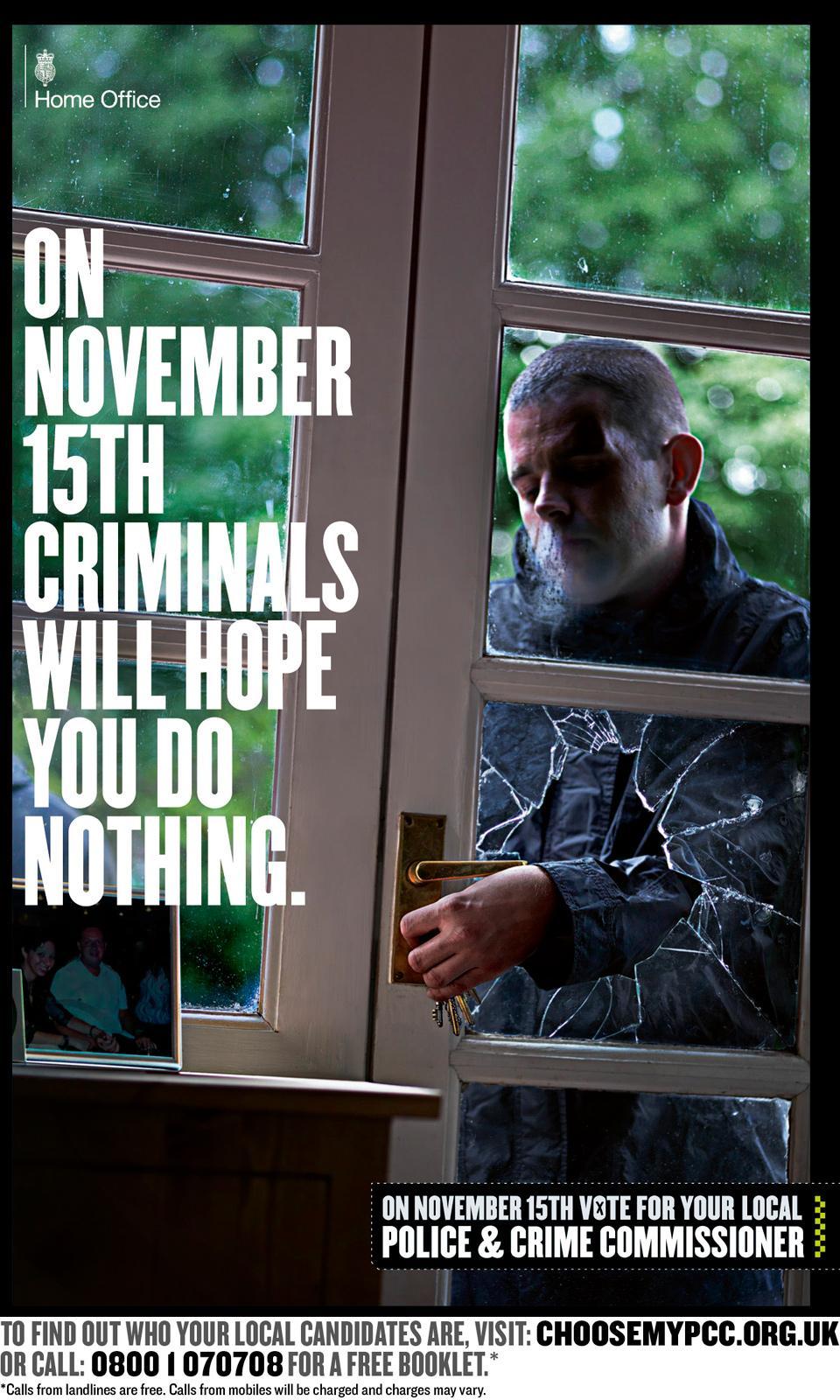 Police & Crime Commissioner Print Ad -  Burglar