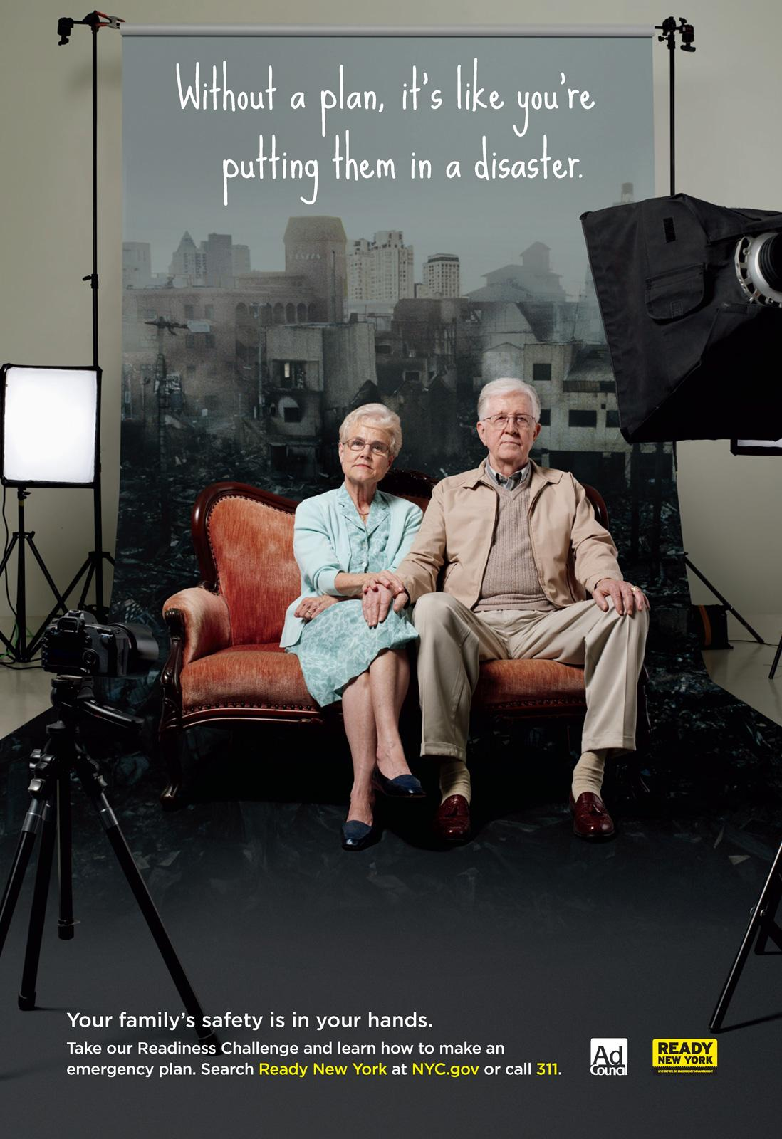 Ad Council Print Ad -  Ready New York, Couple