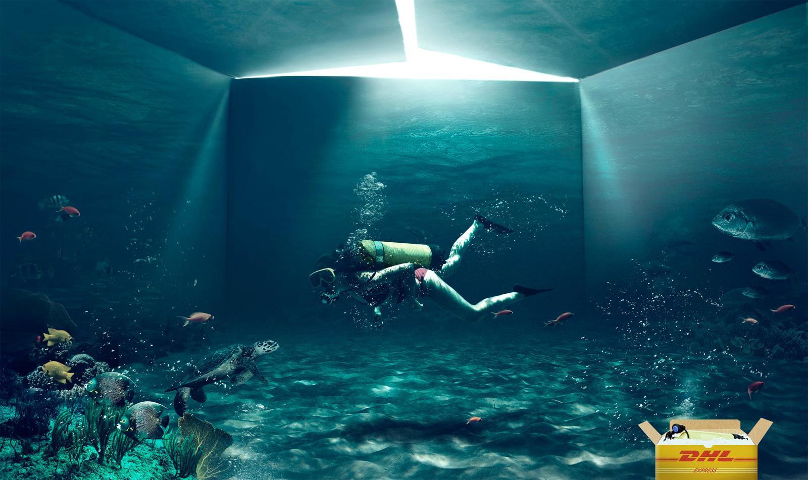 DHL Print Ad -  Diver