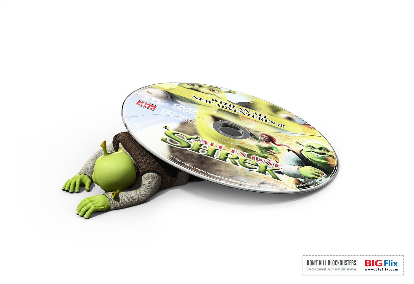 Big Flix Print Ad -  Shrek