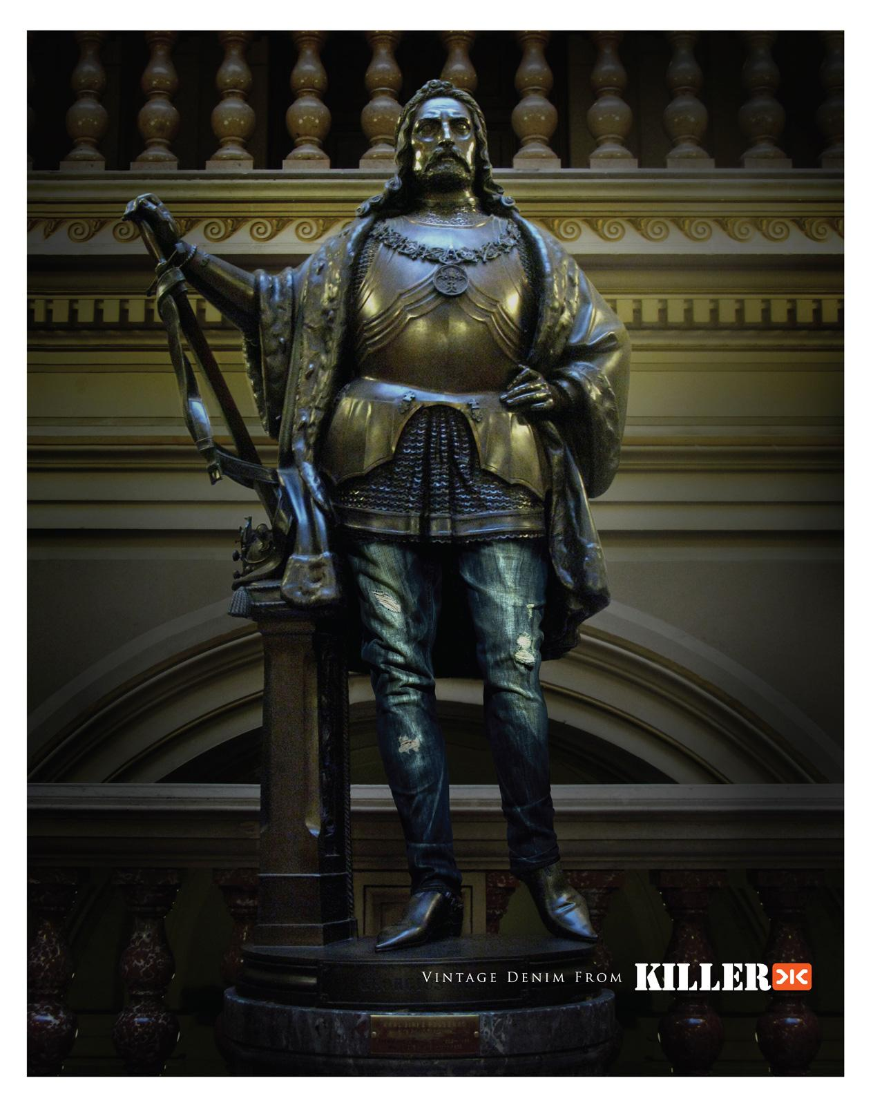Killer Jeans Print Ad -  Statue, 3