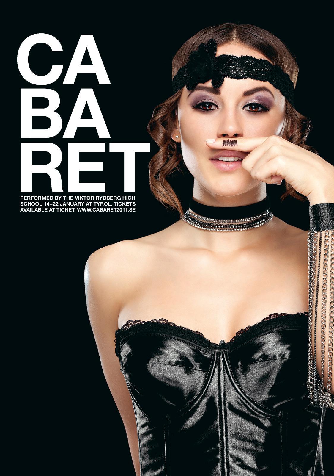 Viktor Rydberg High School Print Ad -  Cabaret