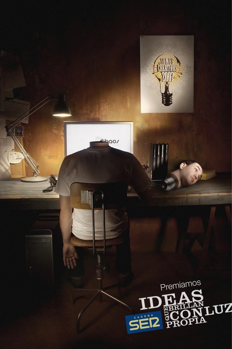 Cadena Ser Print Ad -  Light bulb