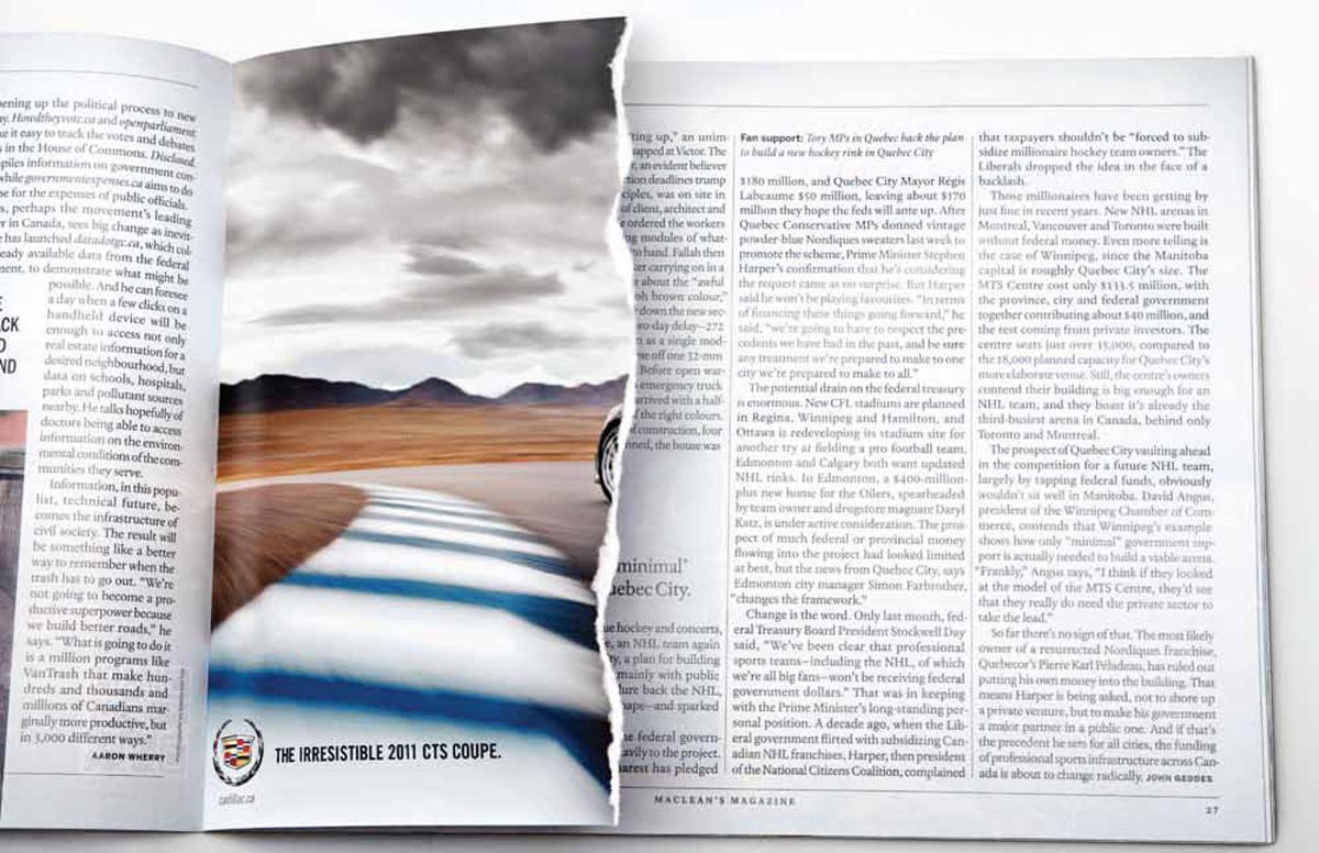 Cadillac Print Ad -  Ripped