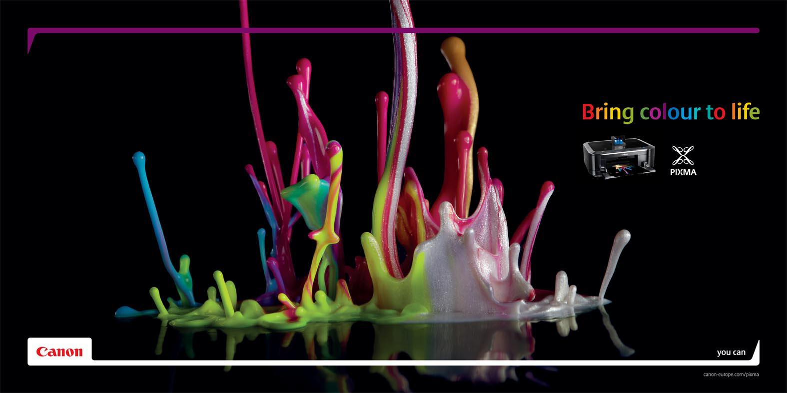 Canon Print Ad -  Colour sculptures, 4